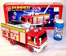 PUMPER BUBBLE BLOWER FIRE TRUCK FOR KIDS