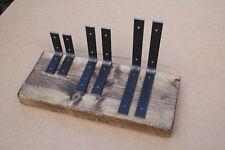 Pair Handmade Heavy Duty Shelf Brackets Shelving Industrial Rustic Iron Steel
