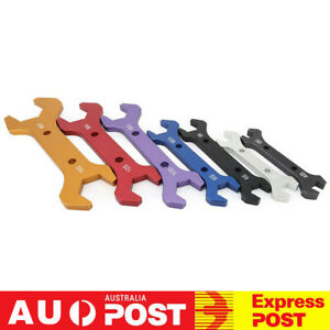 7PCS Double Hose Ended Spanner Tool Kit Wrench Set AN3 to AN20 Anodized Aluminum