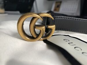Gucci GG Marmont Slim Belt 90/36 Boxed 409417