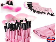 CLASSY 32 piece Prof cosmetic make up brush set in case PINK  ⭐️SALE⭐️QUALITY