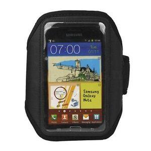 Black Neoprene Sports Running Armband Case for Samsung Galaxy Note 5 4 Edge 3 2