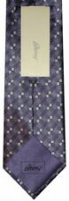 NEW BRIONI DARK & LIGHT PURPLE TONES GEOMETRIC 100% SMOOTH SILK NECK TIE