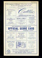 *1954 Hagerstown Packets minor league baseball program v. Norfolk Tars