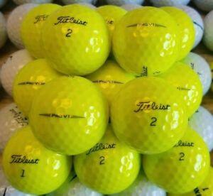 24 Used Titleist ProV1 AAAAA (5A) Yellow Golf Balls
