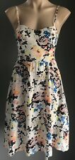 Pre-owned KATE HURST Floral Multi Colour Sleeveless Cotton Sundress Size 8