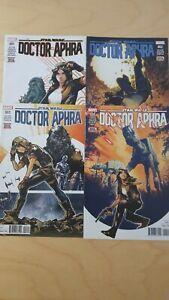 Star Wars Doctor Aphra #1, 2, 3, 4. Marvel. First Prints