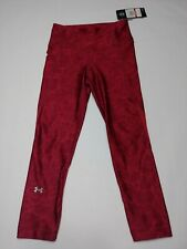 Under Armour Women's Capri Red compression Heatgear tights Running Size XS