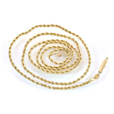 14K Yellow Gold 20 Inch Rope Chain 5.7 Grams
