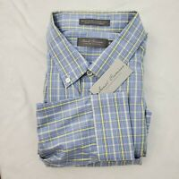Daniel Cremieux Casual Button Down Shirt Men's XL Long Sleeve Blue New $89