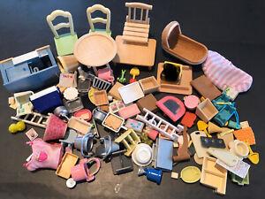 Lots Of Sylvanian Families Accessories Bundle Job Lot Furniture Over 110 Pieces