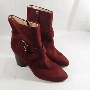 Women's Burgundy Nine West NW Cavanaugh Booties Boots Size 5½