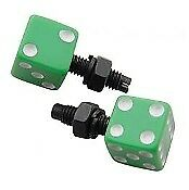 Green Dice LP Bolts Pair Mooneyes Moon License Plate Chevy Ford Mopar Dodge GM