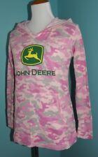Women's John Deere Hoodie Sweatshirt M Jacket Pink Camo