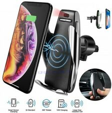 QI QC Wireless Car Fast Charger Phone Holder Air Vent Mount iPhone Samsung S6 S7