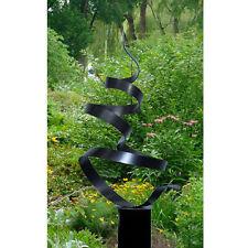 Modern Abstract Silver Black Grey Indoor Outdoor Metal Art Garden Sculpture