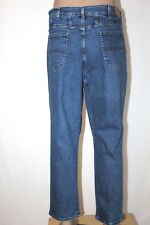 LEE RIDERS Women's Size 24W P Petite Straight Tapered Leg Stretch Jeans EUC