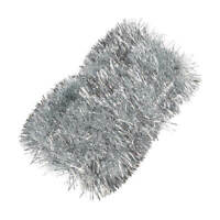 New 2019  Tinsel - Silver - Christmas Decoration - 6 M - Party Decoration Tinsel