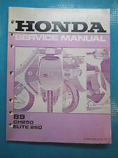 Honda CH250 Elite 250 1989 Service Repair Shop Manual