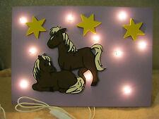 Kinderzimmer Lampe Wandlampe Pferd Weide Pferde Sterne  Schlummerlicht