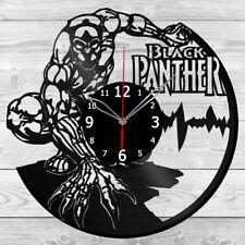 Vinyl Clock Black Panther Vinyl Record Wall Clock Home Art Decor Handmade 5159
