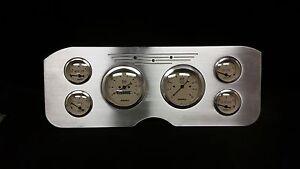 1955 1956 1957 1956 1959 GMC 6 Gauge Dash Cluster Set Billet Insert Tan