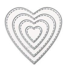 UN3F Heart Cutting Dies Scrapbooking Embossing Manual Fancy Toy