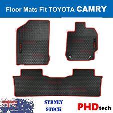 Premium Quality Toyota Camry All Weather Rubber Floor Mats 2012-2017 Nov RedTrim