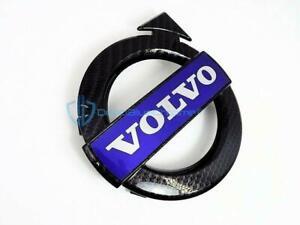Volvo S60 V60 XC60 Black Carbon Fiber Front Grille Emblem OEM Badge Bumper