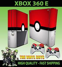 XBOX 360 E POKEBALL POKEMON GO STICKER SKIN SUPERSLIM  & 2 PAD SKIN