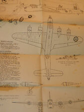 Plan Guillemard Maquette silhouette 1/100 STIRLING bristol HERCULES map avion