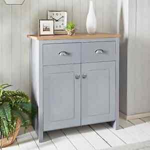 New Millbrook Sleek Grey 2 Door 2 Drawer Sideboard Organiser Storage Furniture
