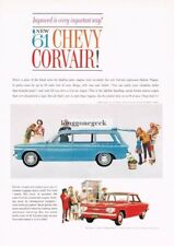 1961 CHEVROLET CHEVY Corvair 700 Blue Lakewood Station Wagon Vtg Print Ad