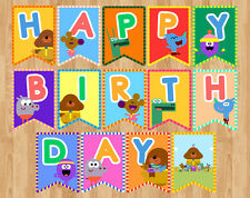 DIGITAL FILE HEY DUGGEE DUGGIE HAPPY BIRTHDAY BANNER FLAG PENNANT BUNTING PARTY