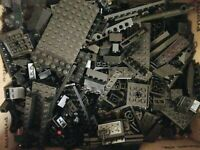 LEGO HUGE 4 lbs LOT OF BLACK PIECES ASSORTED COLOR BRICKS BULK PARTS Lot #4