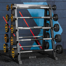 METIS Barbell Weights Storage Rack Sets | HEAVY-DUTY STAND –10x Barbell Capacity