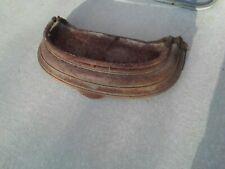 Antique Fireplace Cast Iron Fender  surround Skirt Bumper 1/2 Round Railing