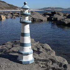 Faro De Madera Rayas Azul y mientras al archipiélago