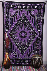 New Queen Size Indian Ethnic Tie Dye Wall Hanging Tapestry Bedspread Decorative