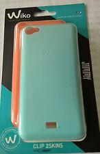 Wiko JIMMY 2Skins Hard Case Schale Back Cover orange u. bleu für Wiko Jimmy