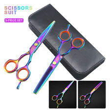 Hairdressing Hair Cutting & Thinning Scissors Shears + Leather Bag Barber Set