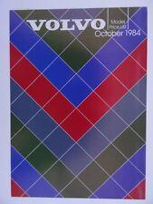 Volvo UK Price List 1984 / 1985 - 340, 360, 240, 260, 740, 760