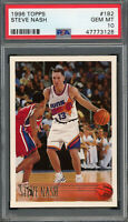Steve Nash 1996 Topps Basketball Rookie Card RC #182 PSA 10 GEM MINT