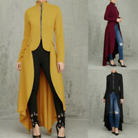 UK Women Gothic Steampunk Victorian Swallow Long Trench Coat Ladies Party Jacket