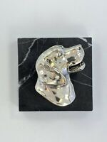 I Am Edgar Berebi This Is My Silver Plate Labrador Paperweight ... 125 Retail