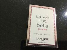 Lancome La Vie Est Belle En Rose L'eau De Toilette Spray 1.2 Ml X 3