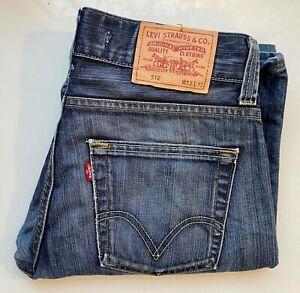 *Vintage* LEVI's Original Jeans Denim Bootcut 512 Schlaghose W32 L32 blau LEVIS