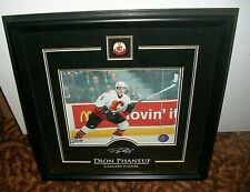 Dion Phaneuf Calgary Flames w/Etched Sig. 17.5x17.5 Photo 8x10 Framed Photo/Pin