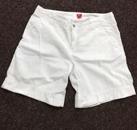 Esprit Damen Bermuda Shorts Kurze Hose Gr.40 Weiss 100% Baumwolle