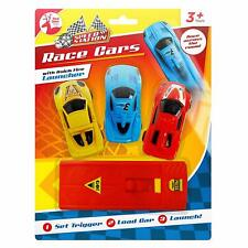 Speed Station Toy Race Cars with Launcher (3pk)